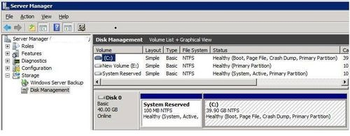 System reserved partition