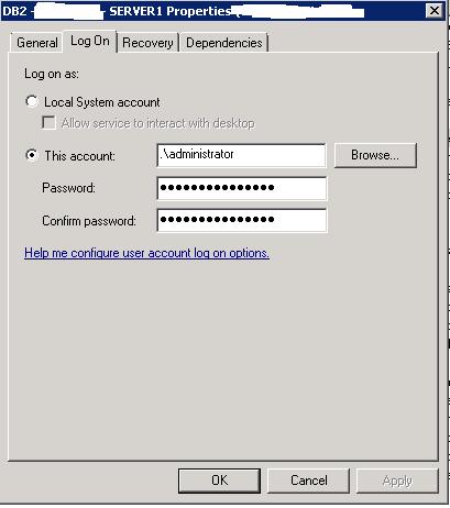 DB2 instance owner windows