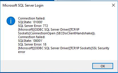 ERROR 08001 MICROSOFT ODBC SQL SERVER WINDOWS 7 DRIVER DOWNLOAD